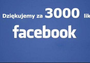 3000 polubień – Dziękujemy